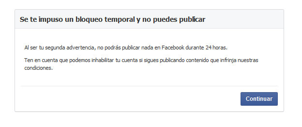 facebook bloquea mi perfil por poner una foto de lactancia
