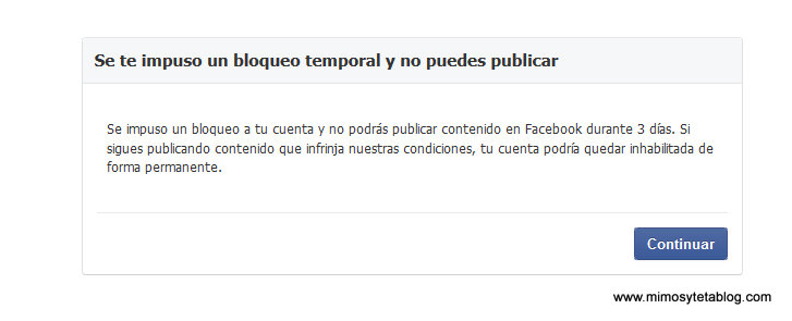 Facebook bloquea a Nohemí Hervada