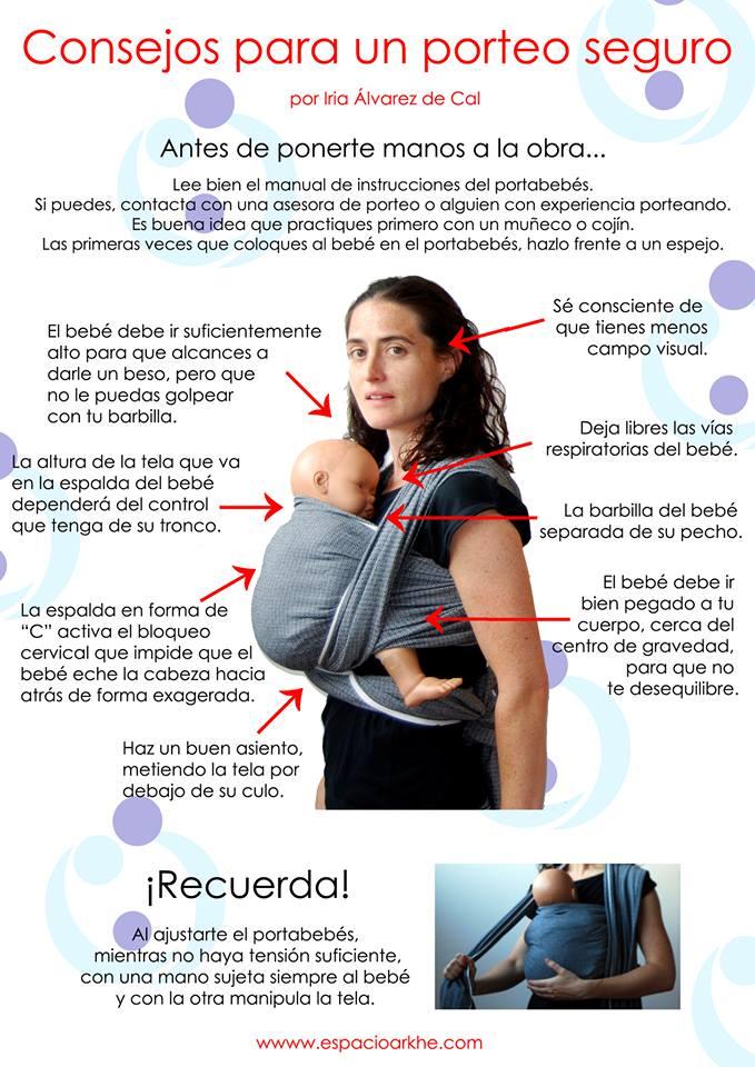 Consejos de uso correcto y seguro de portabebés