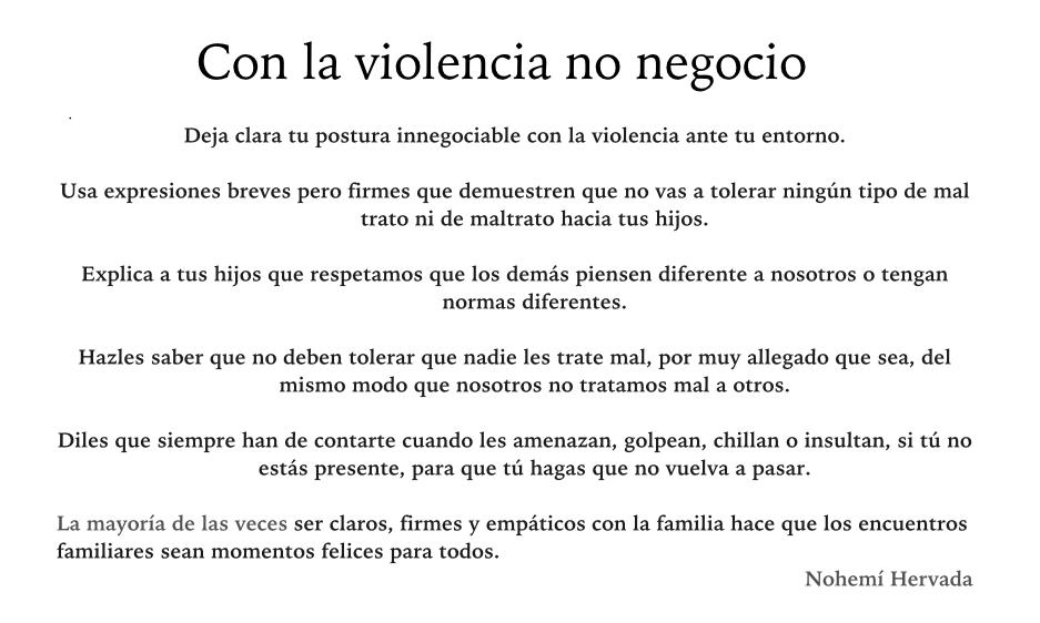 Con la violencia no negocio: TIPS