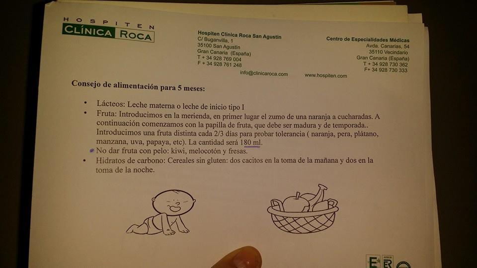 Recomendaciones de alimentación de un pediatra. Mimos y Teta