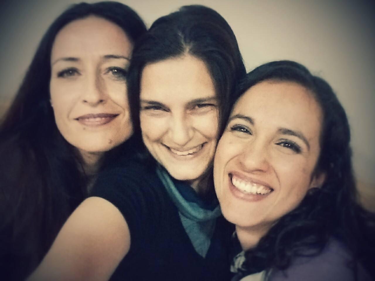 Ana Gª del Río, Elena López y yo