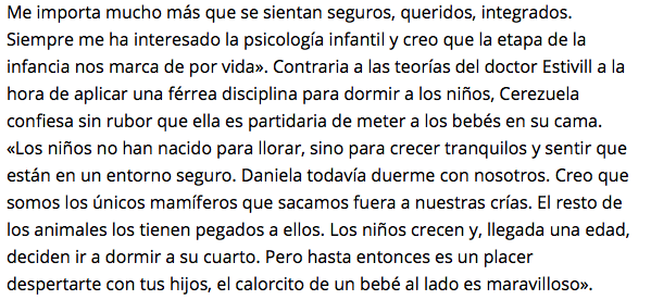 Fragmento de la entrevista publicada en ElComercio.es