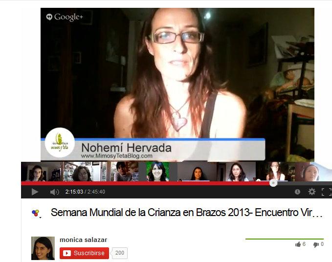 Hangout en vivo con Monica Salazar de Familia Libre- Semana Mundial Crianza en Brazos 2013