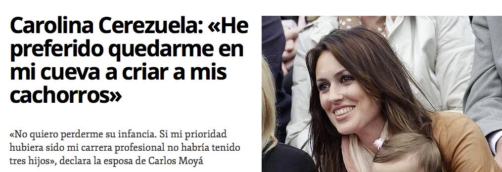 Carolina Cerezuela habla de su maternidad y yo me alegro