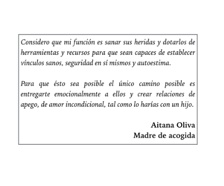 """Entrevista a Aitana Oliva, madre de acogida: """"Mi objetivo es que estos niños puedan conocer la infancia como un periodo feliz, de calor familiar, seguridad, amor incondicional y atención individualizada."""