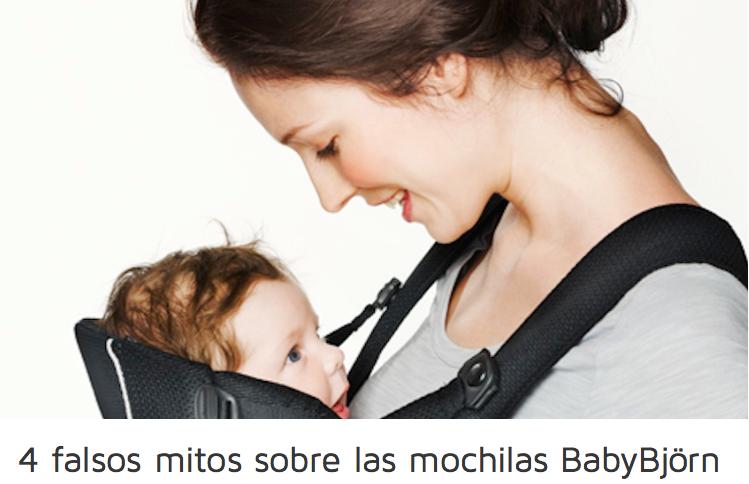¿4 falsos mitos sobre  las mochilas BabyBjörn ?